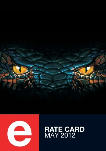 RATE CARD - eTV