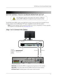 DH100 SERIES TOUCH SCREEN MONITOR SETUP - Digimerge