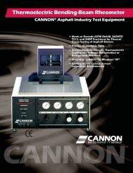 Thermoelectric Bending-Beam Rheometer TE-BBR - Cannon ...