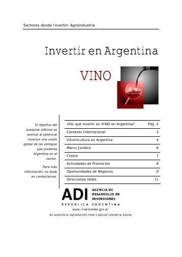 Invertir en Argentina Vino - Bolsa de Comercio de Mendoza