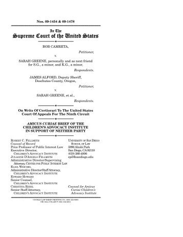 CAI Files Amicus Curiae Brief in U.S. Supreme Court Proceedings