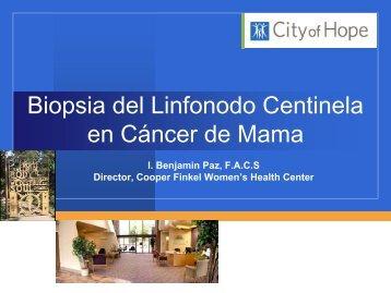 Biopsia del Linfonodo Centinela en Cáncer de Mama