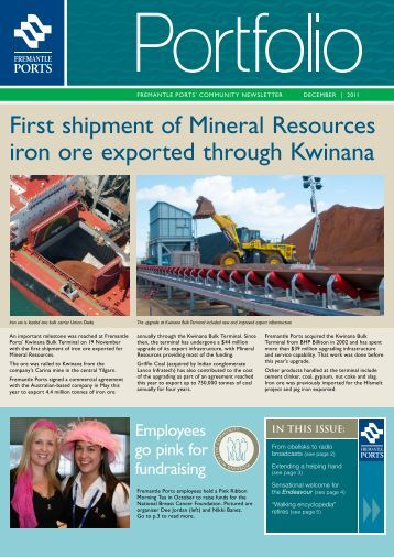 COMMUNITY NEWSLETTER DECEMBER - Fremantle Ports
