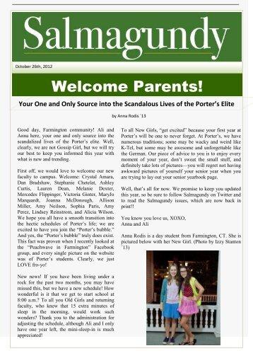 Welcome Parents! - Miss Porter's School