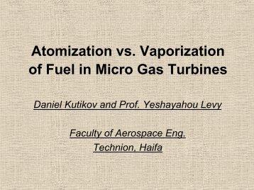 8. Atomization vs. Vaporization of Fuel in Micro Gas Turbines