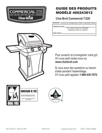 attention - Char-Broil Grills