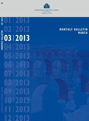 ECB Monthly Bulletin March 2013 - European Central Bank - Europa