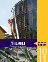Annual Report - EJ Ourso College of Business - Louisiana State ...