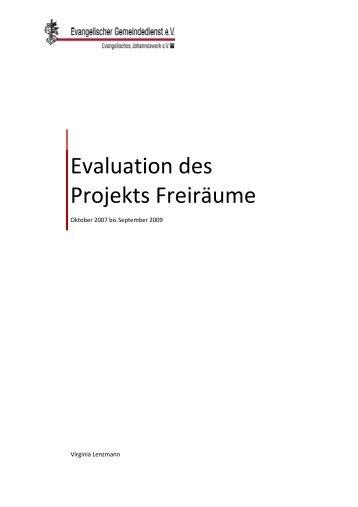 Evaluation des Projekts Freiräume Oktober 2007 bis ... - Starke Väter
