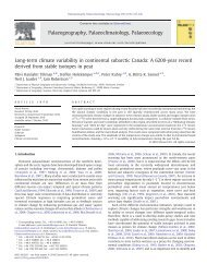 Long-term climate variability in continental subarctic Canada: A ...