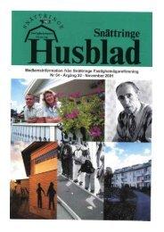 2001-3 - Snättringe fastighetsägareförening