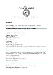 Consultez l'avis pour le marché n°13CDE01 - Franconville