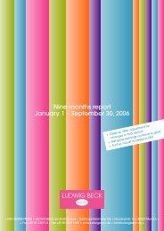 Nine-months report 2006 (PDF) - Ludwig Beck