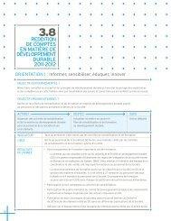 reddition de comptes en matière de développement durable 2011 ...