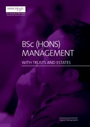 BSc (Hons) Management with Trusts and Estates