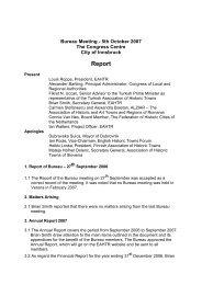 October 2007 - European Association of Historic Towns & Regions