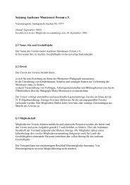 Satzung Aachener Montessori Forum e.V.