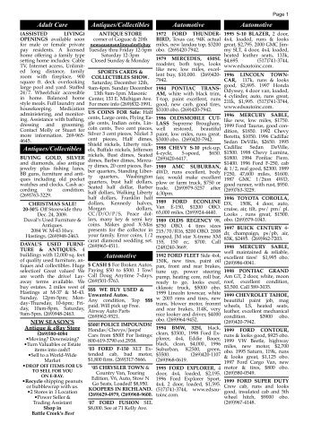 121009 classified ads - Battle Creek Shopper News