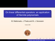 On linear differential operators: an application of Hermite polynomials