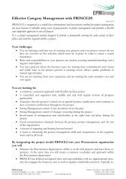 PRINCE2 Foundation produktark - EPM Group