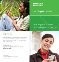 LearnEnglish Mobile Learning on the move Učte se kdykoliv a ...