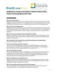 Power Purchasing Agreement FAQs - Southern California Edison