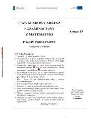 Przykładowy arkusz egzaminacyjny z matematyki poziom podstawowy