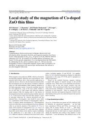 Local study of the magnetism of Co-doped ZnO thin ... - ResearchGate