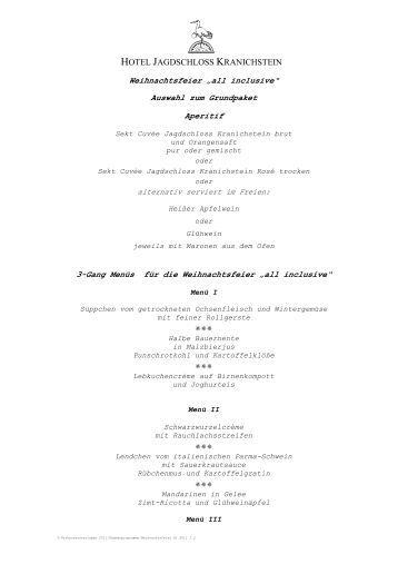 """""""Christmas """"All Inclusive"""" - Hotel Jagdschloss Kranichstein"""