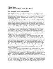 T-Bone Blues T-Bone Walker's Story In His Own Words