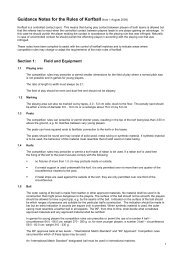 Guidance Notes for the Rules of Korfball (from 1 August 2009)