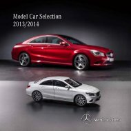 Mercedes-Benz Model Car Selection 2012-2013
