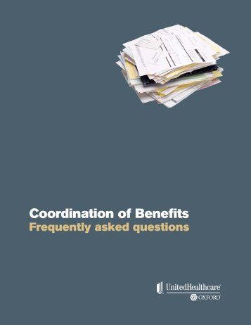 Coordination of Benefits - Oxford Health Plans