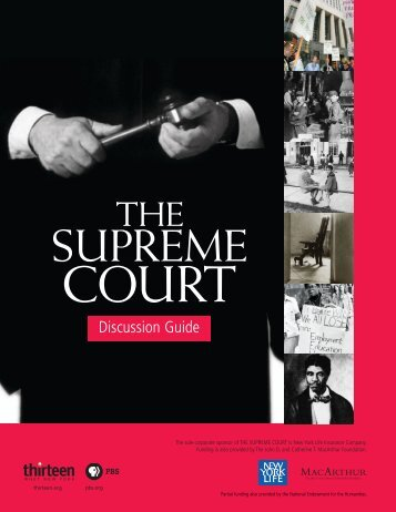 Supreme Court Discussion Guide - PBS