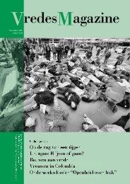 Jaargang 1, nummer 1 (pdf) - VredesMagazine
