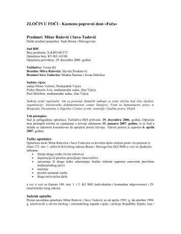 ZLOČIN U FOČI - Kazneno popravni dom «Foča» - Documenta