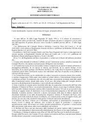 Leggi determina n. 58 - Il Parco del Conero