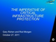 the imperative of critical infrastructure protection - ARTS