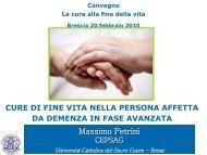 Cure di fine vita nella persona affetta da demenza in fase ... - GrG