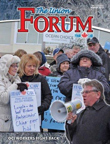 The Union Forum Winter 2012 - FFAW