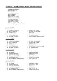 Spielplan 1. Bundesliga der Herren, Saison 2006/2007