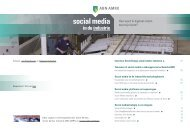 Social Media in de Industrie - ABN Amro