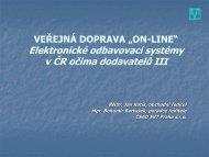 Elektronické odbavovací systémy v ČR očima dodavatelů III