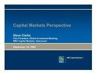 RBC Royal Bank - Steven Clarke - Life Sciences