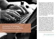 Invitation til seminar: Persondata for praktikere - Plesner