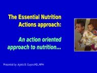 The Essential Nutrition Actions approach: An ... - Linkages Project