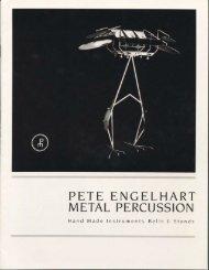 PETE ENGELHART METAL PERCUSSION - drumarchive.com