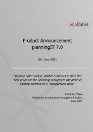Product Announcement planningIT 7.0 - Alfabet