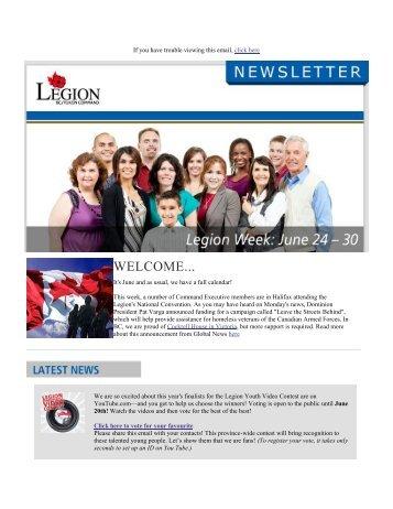 welcome... - Legion BC/Yukon Command Website