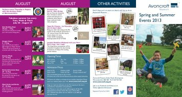 Spring and Summer Events 2013 - Avoncroft